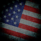 Grunge  texture American flag Stock Images