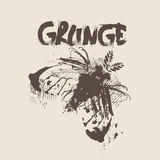 Grunge Texture Background Banner With Copy Space Stock Photography