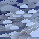 Cloudscape of cartoon clouds Stock Images