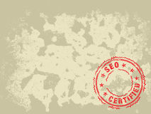 Grunge Texture Background SEO Certified Stamp stock photography