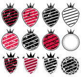 Grunge texture badge with stripes illustration Stock Photography