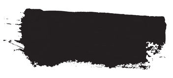 Grunge texture. Black brush on white. Vector template. Urban Background. Stock Images