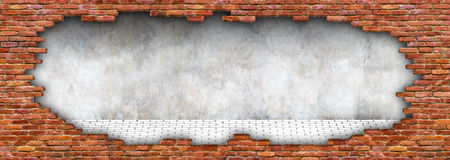 Grunge texture of a brick wall, ruined stonework for background Royalty Free Stock Image