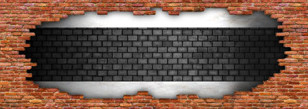 Grunge texture of a brick wall, ruined stonework for background Royalty Free Stock Photo
