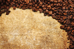 Grunge texture of coffee beans. A photo based illustration of grunge coffee bean background with room for your text Stock Photos