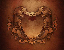Grunge Texture Crest. Grunge texture background with a crest Royalty Free Stock Images
