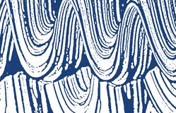 Grunge texture. Distress indigo rough trace. Delic. Ate background. Noise dirty grunge texture. Terrific artistic surface. Vector illustration royalty free illustration