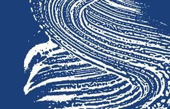 Grunge texture. Distress indigo rough trace. Exoti. C background. Noise dirty grunge texture. Bizarre artistic surface. Vector illustration stock illustration