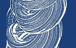 Grunge texture. Distress indigo rough trace. Extra background. Noise dirty grunge texture. Imaginati. Ve artistic surface. Vector illustration stock illustration