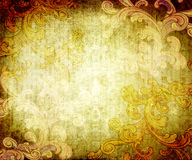 Grunge texture with flourishes Royalty Free Stock Photos