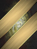 Grunge texture with gold ribbons. Template for design. copy space for ad brochure or announcement invitation Stock Photo
