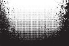 Grunge texture with halftone. Vector illustration Stock Photos