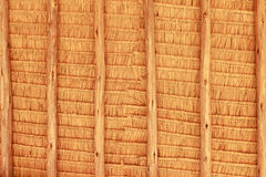 Grunge texture of hay stack roof. In Thailand Stock Photography