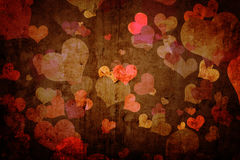 Grunge texture with hearts Stock Photo