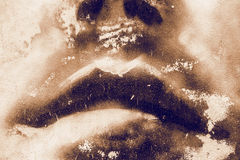 Grunge texture lips Royalty Free Stock Images