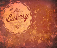 Grunge texture with logo Royalty Free Stock Photography