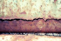Grunge texture of metal plate Royalty Free Stock Photos