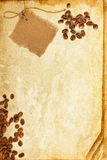 Grunge texture of old book paper sheet with coffee Stock Photography
