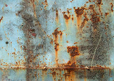 Grunge texture of old rusty metal. With scratches and cracks Stock Photography