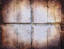 Grunge texture of pastel colour broken tiles Royalty Free Stock Photo