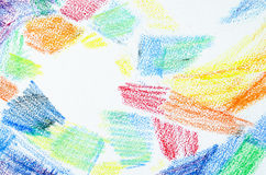 Grunge texture of pastel strokes. Crayons abstract grunge background.  Stock Photos