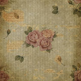 Grunge texture rose paper Stock Photography