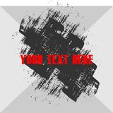 Grunge Texture Vector with Text in Front. Abstract Grunge Texture Vector with Text in Front for background Stock Image