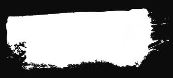 Grunge texture. White brush on black. Vector template. Urban Background. Royalty Free Stock Images