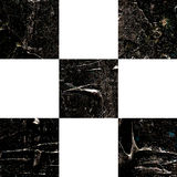 Grunge textured abstract checkered pattern Stock Photography