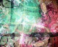 Grunge textured abstract digital background. Grunge  textured abstract digital background - collage, with space for your text Royalty Free Stock Images
