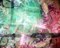 Grunge textured abstrakcjonistyczny cyfrowy tło Obrazy Royalty Free