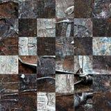 Grunge textured abstrakcjonistyczny w kratkę bezszwowy wzór Fotografia Royalty Free