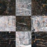 Grunge textured abstrakcjonistyczny w kratkę bezszwowy wzór Zdjęcie Royalty Free