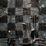 Grunge textured abstrakcjonistyczny w kratkę bezszwowy wzór Zdjęcia Royalty Free