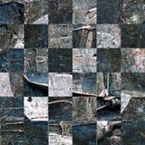 Grunge textured abstrakcjonistyczny w kratkę bezszwowy wzór Zdjęcie Stock