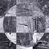 Grunge textured abstrakcjonistyczny w kratkę wzór Obraz Stock