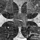 Grunge textured abstrakcjonistyczny w kratkę wzór Obrazy Royalty Free