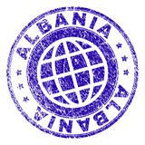 Grunge Textured ALBANIA znaczka fokę royalty ilustracja