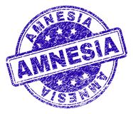 Grunge Textured AMNESIA Stamp Seal vector illustration