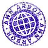 Grunge Textured ANN ARBOR znaczka fokę ilustracja wektor