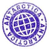 Grunge Textured ANTARCTICA znaczka fokę ilustracji