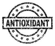 Grunge Textured ANTIOXIDANT Stamp Seal. ANTIOXIDANT stamp seal watermark with distress style. Designed with rectangle, circles and stars. Black vector rubber royalty free illustration