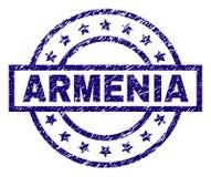 Grunge Textured ARMENIA znaczka fokę Zdjęcie Royalty Free