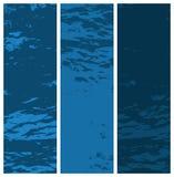Grunge textured bandeiras Imagens de Stock