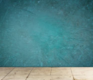 Grunge textured blue wall and floor pattern Royalty Free Stock Image