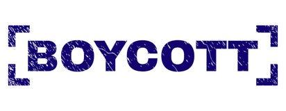 Grunge Textured bojkota znaczka foka Wśrodku kątów ilustracji