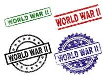 Grunge Textured drugiej wojny światowa foki znaczki royalty ilustracja