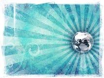 Grunge Textured el espacio de la copia del mundo ilustración del vector