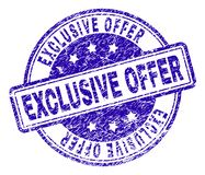 Grunge Textured EXCLUSIVE OFFER Stamp Seal royalty free illustration