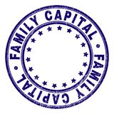 Grunge Textured FAMILY CAPITAL Round Stamp Seal stock illustration